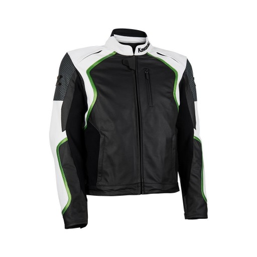 Kawasaki Z Leather Jacket White