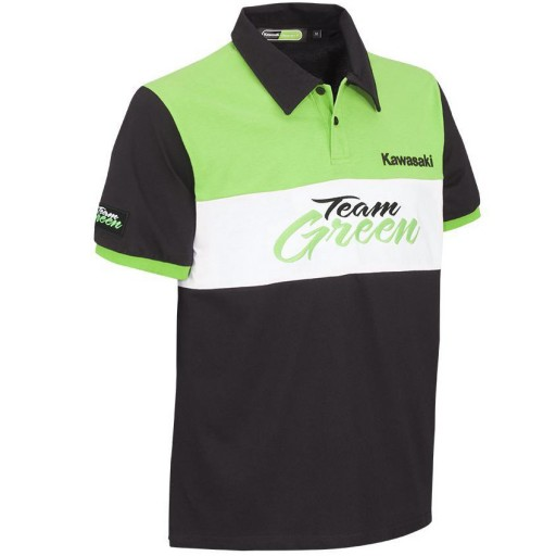 Kawasaki Men's Team Green Polo Short Sleeve