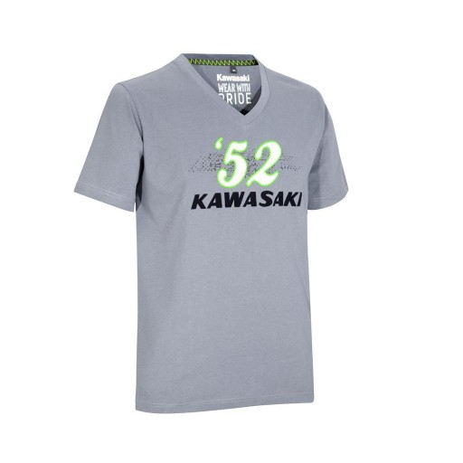 Kawasaki Engineered For Speed 52 Grey T Shirt Small