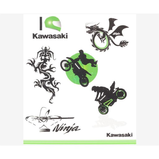 Kawasaki Kids Tattoo Set
