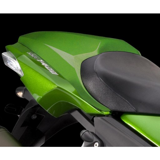 Kawasaki ZZR1400 2017 Single Seat Cover Golden Blazed Green