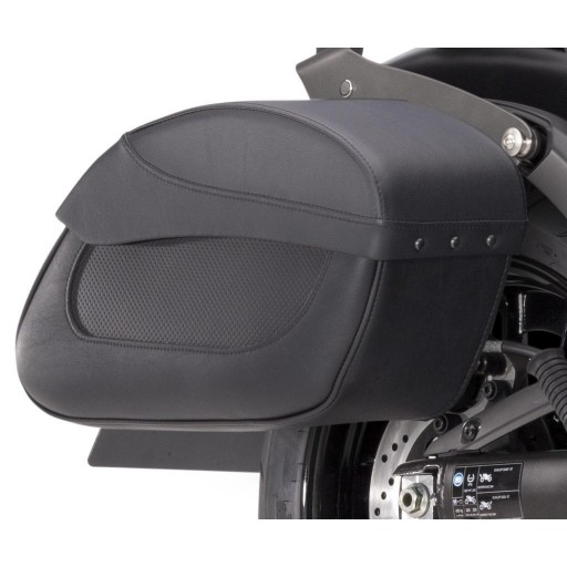 Kawasaki Leather Saddlebag set Quick Release