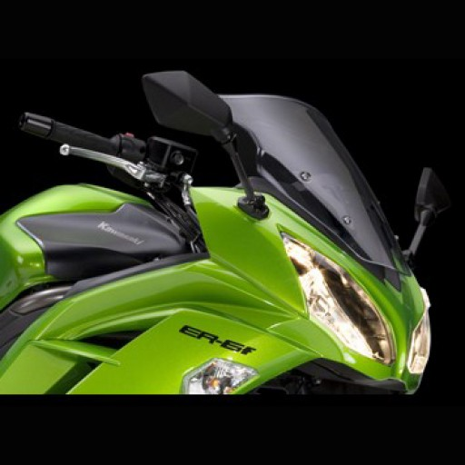 Kawasaki ER6F Smoked Windshield