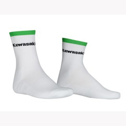 Kawasaki Sports Socks White Short Size 35-38