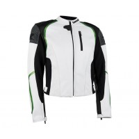 Kawasaki Ladies Z Leather Jacket White