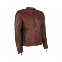 Kawasaki RS Leather Jacket Brown