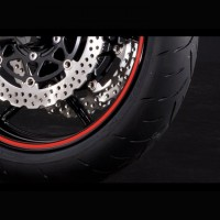Kawasaki Red Wheel Rim Tapes 17""