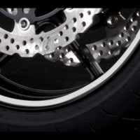 Kawasaki Wheel Rim Tapes GP Style Silver
