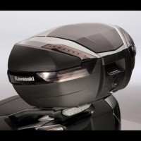 Kawasaki 47L Top Case Aluminium Deco Plate Black Anodized