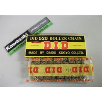 KX/KXF 125,250,450 & 500  DID Gold/Black Drive Chain 520-120 Links