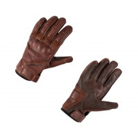 Kawasaki RS Leather Gloves Brown